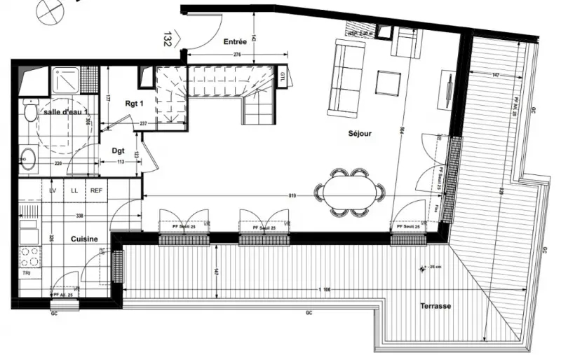 Appartement 3 Pieces Terrasse Clichy Immofavoris
