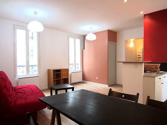 Location Studio Meuble Paris 15eme Lave Linge Immofavoris